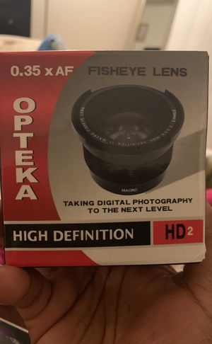 Opteka 0.35xAF Fisheye Lens High Definition HD2 for Sale in St. Louis, MO