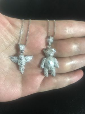 925 sterling silver pendant with chain (🧸$37 each)(👼$27 each) for Sale in Philadelphia, PA