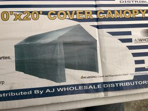 10x 20 Cover Canopy 1.1/2 Tubing Diameter easy to assemble in 20 minutes no tools need, comes with everything with heavy duty tarp and all sides. for Sale in San Diego, CA