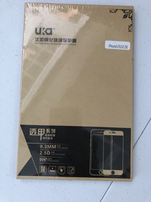 UKA Tempered Glass Screen Protector for iPhone SE/5S/5C/5 for Sale in Whittier, CA