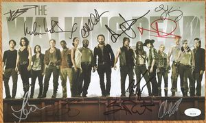 Walking Dead cast signed 2014 SDCC photo Lincoln Reedus Cohan Gurira McBride JSA for Sale in Dillon, CO
