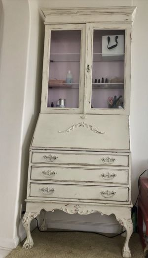 Antique French Dresser with cabinet for Sale in Los Angeles, CA
