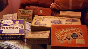 VINTAGE CANDY BARS BOXES for Sale in Snohomish, WA