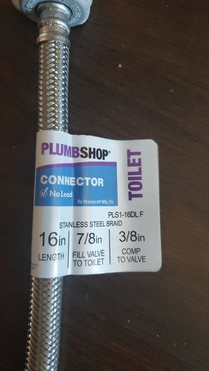 Connector stainless steel braid 16 in 7/8 3/8 for Sale in Hayward, CA