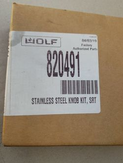 Stainless Steel Knob Kit Wolf Mod. 820491 for Sale in Riverside,  CA