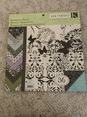 K&Company Black & Ivory Fusion Designer Paper for Sale in Mount Horeb, WI