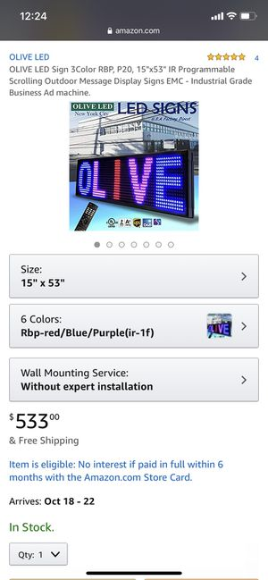LED Scrolling Display Sign for Sale in Philadelphia, PA