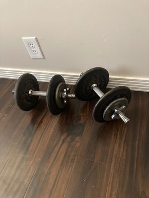 Adjustable dumbbells 50lbs total weight for Sale in Scottsdale, AZ