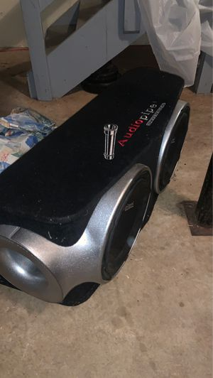 Two 12 inch audio pipe speakers with imported audio pipe box for Sale in Decatur, GA