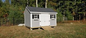 New 10' x 14' Dover Gray Vinyl Chateau Shed for Sale in Rehoboth, MA