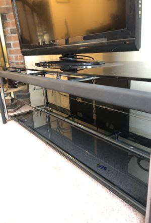Glass TV stand for Sale in Fort Belvoir, VA