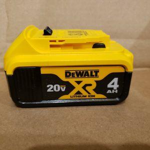 DEWALT 4AH 20V BATTERY - NEW for Sale in Livonia, MI