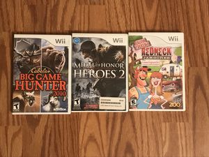 Three wii games for Sale in Columbus, OH