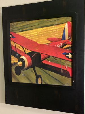 Red and yellow airplane painting for Sale in Orlando, FL