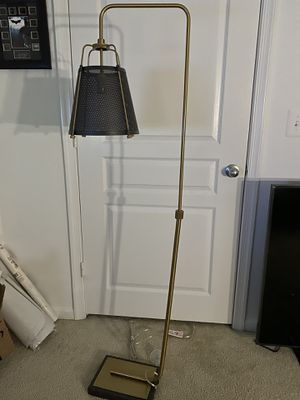 Gold Adjustable Floor Lamp for Sale in Springfield, VA