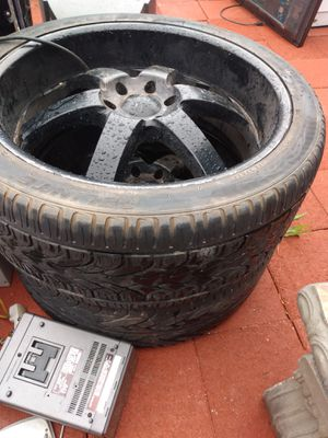 2 rims and tires only 24 inc for Sale in Hesperia, CA