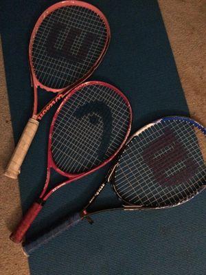 3 Tennis rackets for Sale in La Puente, CA