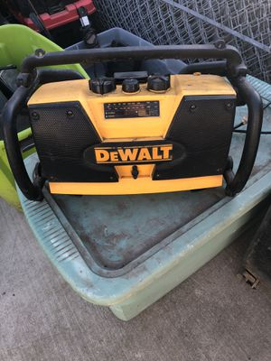 Dewalt radio and battery charger (missing antenna) for Sale in Tracy, CA