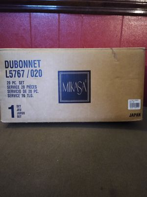 MIKASA (Brand New) 20 piece Serving Set For 4, DUBONNET Beige L5767 for Sale in Manheim, PA