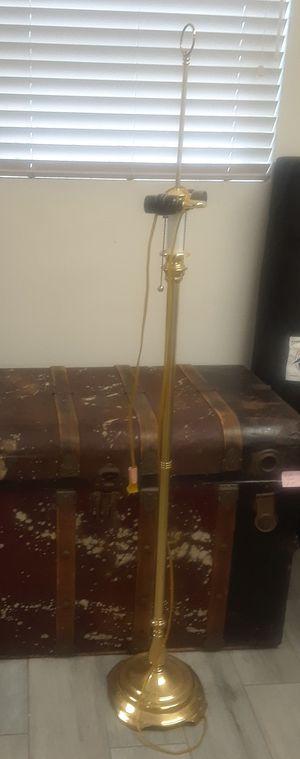 Brass floor lamp for Sale in Riverside, CA