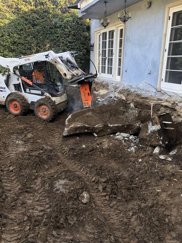 Bobcat peterbilt demolition dump truck haul