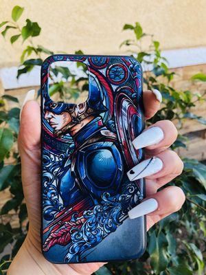 Brand new cool iphone 11 PRO case cover rubber Captain America marvel avengers endgame comics hip hop fire rap trill mens guys womens hypebeast hype for Sale in San Bernardino, CA