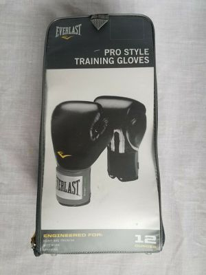 12oz Everlast Pro Style Premium Training Gloves Kick Boxing Cross Gym Men Women Children for Sale in Vista, CA