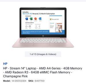 "HP Laptop 14"" Pink for Sale in Hyattsville, MD"