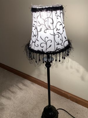 RETRO LOOK TABLE LAMP with Dangly Beads :-) for Sale in Huntley, IL