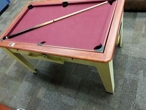 Burgundy Billiard Table/Air Hockey Table for Sale in Tacoma, WA