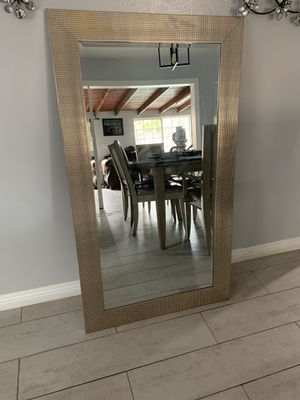 Gold Textured Mirror In Great Condition Can be Used for Dresser or Stand Alone for Sale in San Dimas, CA