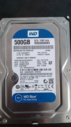 500 GB Hard Drive by WD Blue for Sale in Champaign, IL