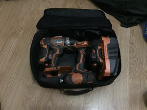 RIGDID drill / impact drill / 2 batteries/ charger / bag for Sale in Newark, NJ