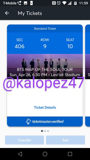 BTS Map of the Soul Tour Tickets for Sale in Tucson, AZ