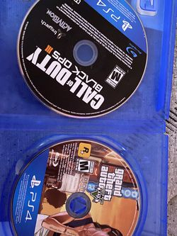 GTA V and Black Ops 3 For PS4 for Sale in San Diego,  CA