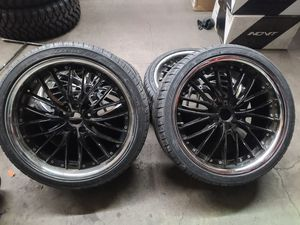 19 INCH VOLKSWAGEN JETTA WHEELS WITH NEW TIRES 245 35 19 for Sale in Rosemead, CA