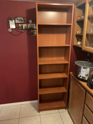 3 matching bookshelves for sale brown color. for Sale in Hesperia, CA