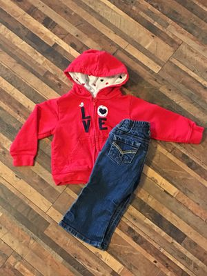 Zip up hoodie and jeans for Sale in Peyton, CO