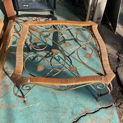 Metal And Wicker Coffee Table for Sale in Houston,  TX