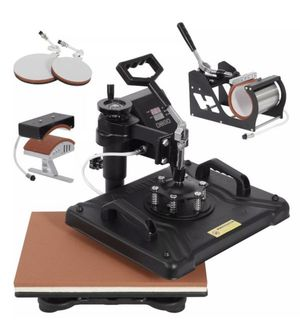 """BRAND NEW in Box 5 in 1 Heat Press Machine 15""""x12"""" Combo Kit Sublimation Swing away for Sale in Torrance, CA"""