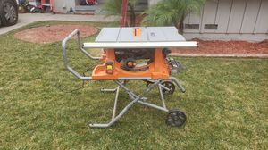 Rigid table saw with stand for Sale in Riverside, CA