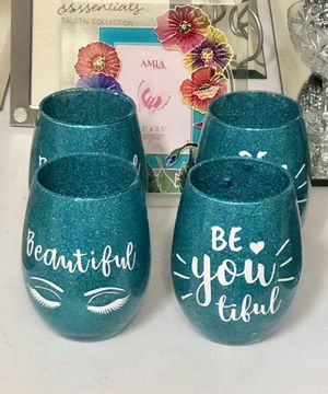 """Makeup Brush Glitter Cups 4"""" $10/each for Sale in New Lenox, IL"""