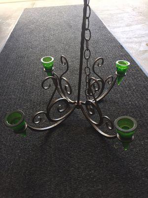 Metal outdoor votive chandelier lighting for Sale in Bloomingdale, IL