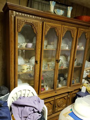 Antique China Cabinet and Table Set for Sale in Detroit, MI