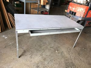 Metal work table. Steel and Formica. for Sale in Montclair, CA