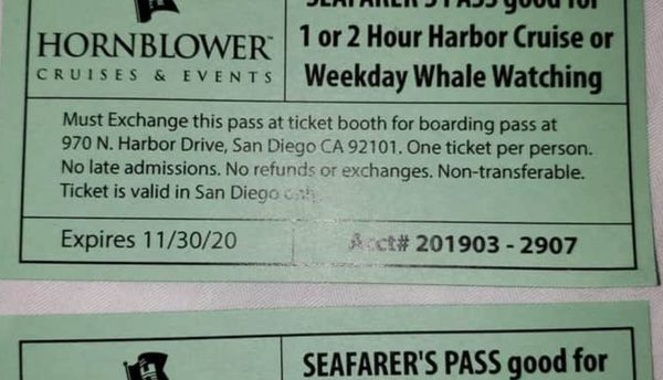 2 tickets for whale watching or 2h harbor cruise
