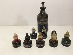 Higgins American Drawing Pen Ink Waterproof Set Lot of 9 Assorted Colors for Sale in Covina, CA