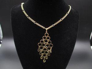 Vintage 20 Inch 14K Gold Plated Odd Pendant Necklace Fashion Bohemian Everyday Wedding Custom Bridesmaid Statement Minimalist Charm for Sale in Everett, WA