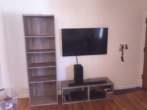 2 bookshelves and matching TV console for Sale in Denver, CO