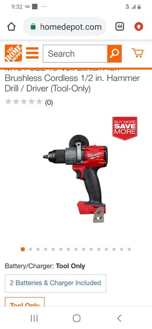 "Milwaukee m18 fuel brushless 3rd generation 1/2"" hammer drill ( tool only for Sale in San Jose, CA"